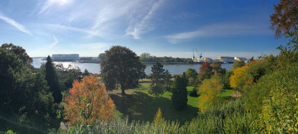 Ausblick Villa Schroeder Vegesacker Stadtgarten Panorama