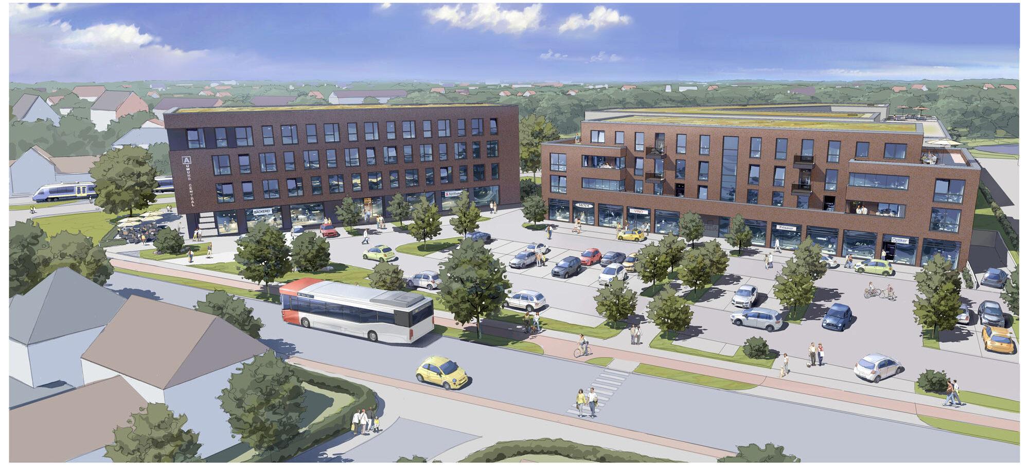Visualisierung Aumund Central von M Projekt Bremen Bauträger