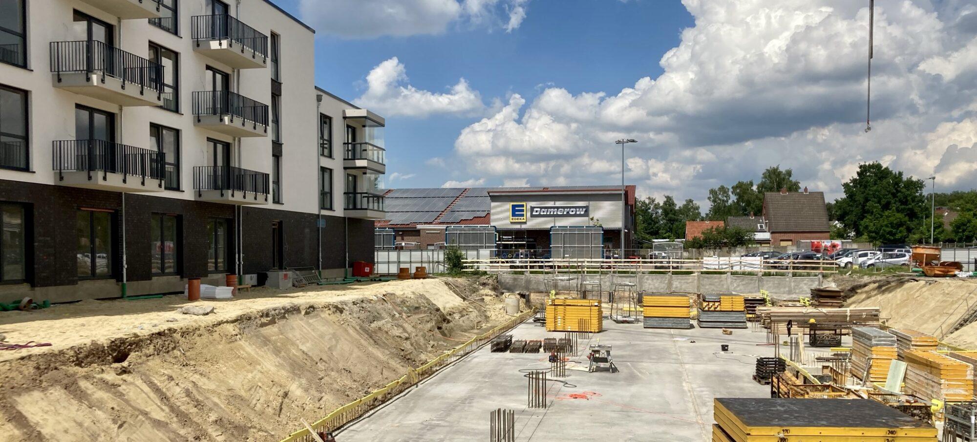 Aumund Central in Bremen-Aumund. Baubeginn