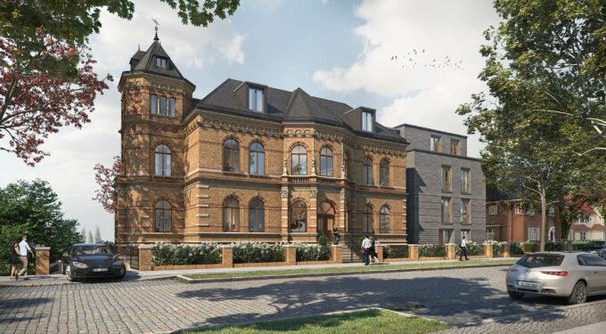 Hier sehen Sie die Visualisierung der Sanierung der Denkmalgeschützten Villa Schröder in Bremen-Vegesack