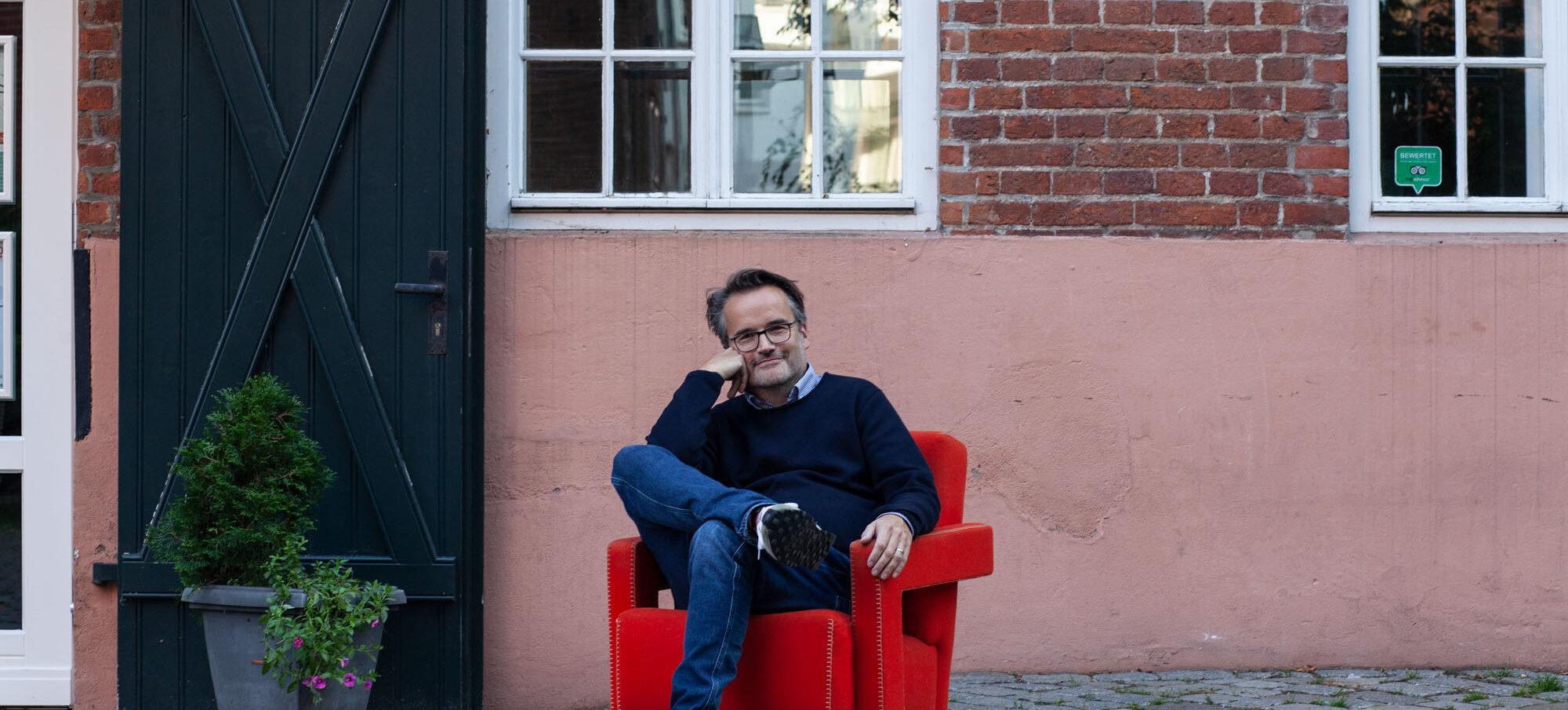 Philipp Romeiser, einer der Geschäftsführer der M Projekt Bremen, Architekt